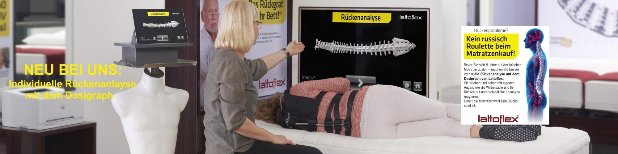 Erleben Sie die Rückenanalsye mit dem einzigartigen innovativen Dosigraph