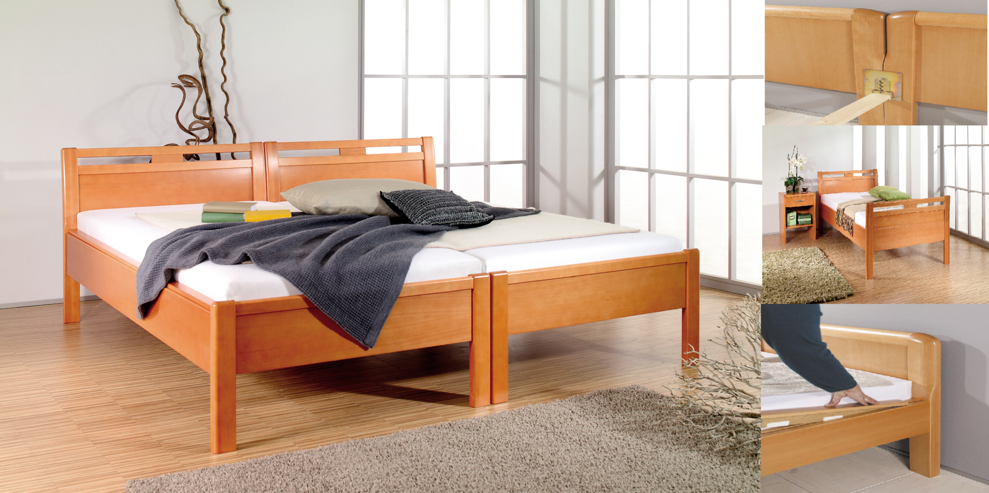 bettgestelle betten segger. Black Bedroom Furniture Sets. Home Design Ideas