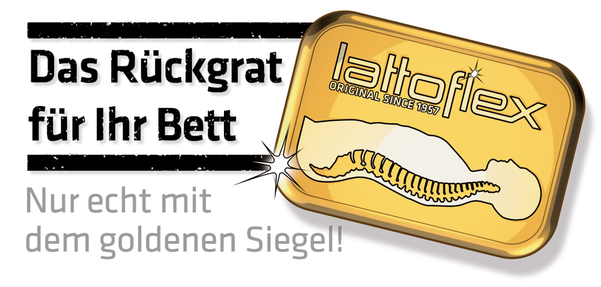 Lattoflex Goldenes Siegel Logo