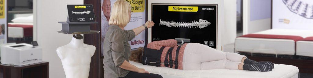 Erleben Sie selbst die Rückenanalyse mit dem Dosigraph von Lattoflex